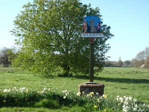 Thanks to Peter Leigh for renovating the village sign. February 2016