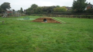 Meadow's play area tunnel October 2016