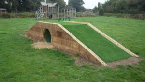 October 2016 - Thanks to Chairman Peter Leigh for all his ideas and hard work to refurbish the play tunnel.